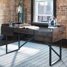 industrial style office desk. starmore brown home office desk industrial style