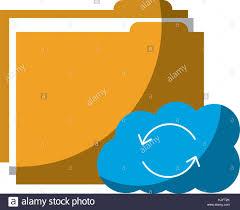 File Sharing System Design Cloud Folder Storage Sharing System File Stock Vector Art