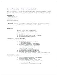 Objective For High School Resumes Sample High School Resume For College Math High School