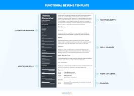 Functional Resume Template Executive Wordor College Student Google