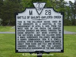 「1865, Battle of Sayler's Creek」の画像検索結果
