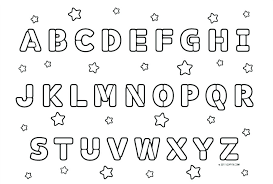 Printable Abc Colouring Sheets Printable Coloring Letters Printable
