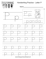 Packed with handwriting, letter, and coloring activities to keep her entertained. Letter P Writing Practice Worksheet Free Kindergarten English Worksheet For Kids