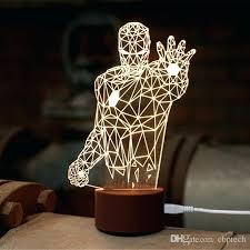 3d wall night light novel iron man light led wall night light wood lamp avengers marvel 3d wall night light
