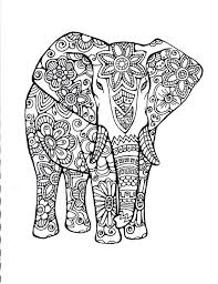 best coloring pages elephant patterns elephants for s inside colouring images on endear mandala