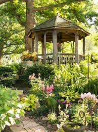 Small Picture Shade Garden Ideas Wood structure Woodland garden and Gardens
