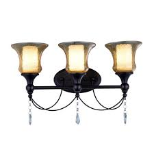 old world design lighting. World Imports Ethelyn Collection 3-Light Oil Rubbed Bronze Vanity Light With Old Glass Design Lighting