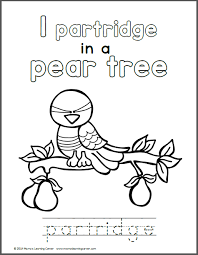 Small Picture 12 Days of Christmas Coloring Pages Mamas Learning Corner