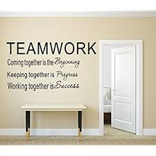 Amazon LUCKKYY Large Teamwork Definition Office Vinyl Wall Enchanting Wall Decals Quotes