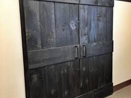 sliding office door. Rustic Reclaimed Circle Sawn Sliding Office Doors With Ebony Finish Door