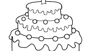 Coloring Pages Birthday Cake Coloring Pages Printable Cake Page