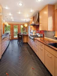 modern kitchen tile flooring.  Flooring Extraordinary Tile Floor Designs For Kitchens  Grant Park Modern  Kitchen With The Tiles Cut To Throughout Flooring