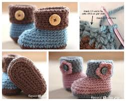 Crochet Free Patterns Mesmerizing Wonderful DIY Crochet Cuffed Baby Booties With Free Pattern