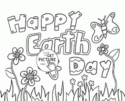 Small Picture Happy Earth Day coloring page for kids coloring pages printables