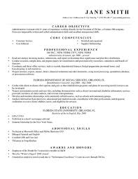 Resume Template Bw Formal Career Objective Professional Experience