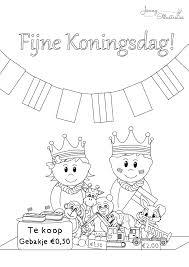 Koningsdag Kleurplaat Freebiesgratis Download Kleurplaten