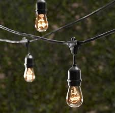 com string light company vintage 48 ft outdoor commercial string lights with 15 suspended sockets 14 gauge black cord bulbs not included