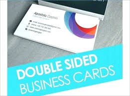 Double Sided Business Card Word Template Two 2