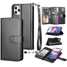iPhone 11 Pro Max Wallet Case, iPhone 11 Pro Max PU Leather Case, Njjex PU  Leather Magnet Stand Wallet Credit Card Holder Flip Case 9 Card Slots Case  for iPhone 11 Pro
