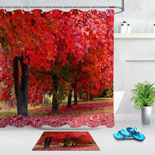 leaves veins fabric shower curtain