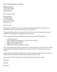 Resume Cover Letter Sample Career Change Website Picture Gallery