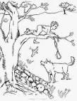 Распечатать раскраску петя и волк