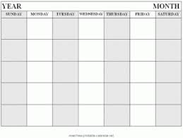 Printable School Year Calendars Blank School Year Calendar Template
