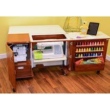 Kangaroo Kabinets Wallaby II Teak Sewing Machine Table Furniture