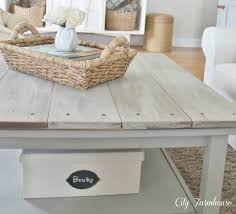 Grey Wash Wood Stain White Washed Wood Coffee Table