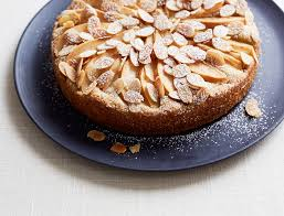 Sesame Almond Cake with Pear