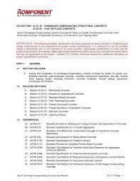 Astm Standards For Concrete Mix Design Csi Specification For Rapid Set Concrete Mix