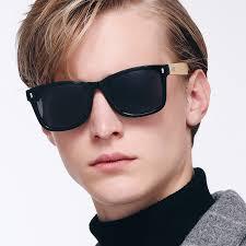 details about retro wood sunglasses mens hd polarized glasses womens bamboo leg eyewear uv400