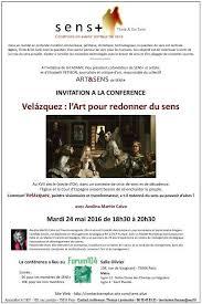 Exposition : VELASQUEZ : L'ART POUR REDONNER DU SENS. Une conférence  organisée par SENS+