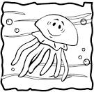 Раскраски медузы