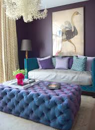 Peacock Colors Living Room Tufted Ottoman Living Rooms Home Ideas Interior Design