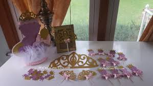 Princess Theme Baby Shower Centerpieces