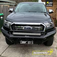 Winch Bar Designs Scorpion Bull Bar To Suit Ford Ranger Mk3 Pu 2018