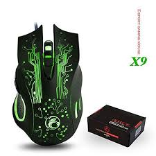gifts for pas lover friends professional gaming mouse wired with led 4 adjule dpi