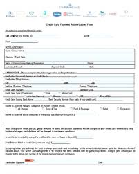 credit card authorization letter template sle to air india