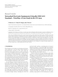 Networked Electronic Equipments Using The Ieee 1451 Standard