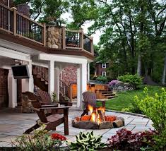 best fire pit on wood deck fire pit design ideas decks with fire pits