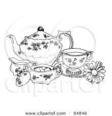 57f18c7425f9e32e1c5cb8789fcff252 girl tea party cartoon poster, art print cartoon girl having a on coloring set for girls