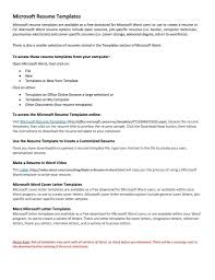 Free Downloadable Resume Templates For Microsoft Word Functional