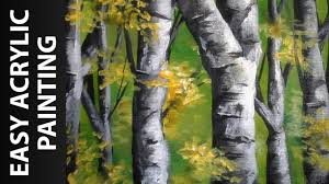 how to paint a forest of birch trees with acrylics for beginners stay creative painting