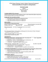 Example Of College Resume Template Magnificent 48 Fantastic Sample Resume For College Student Applying For