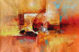 abstract art painting color game acrylic on canvas 24x36