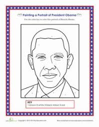 Small Picture US President Barack Obama coloring page Teaching Ideas
