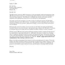 Cover Letter Format For Business Proposal