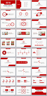 Red Ppt 30 Red Multipurpose Powerpoint Templates On Behance Ppt