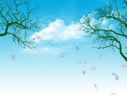 Blue Sky And Trees Backgrounds For Powerpoint Nature Ppt